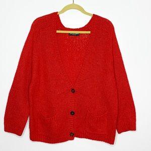 American apparel mohair blend oversized cardigan